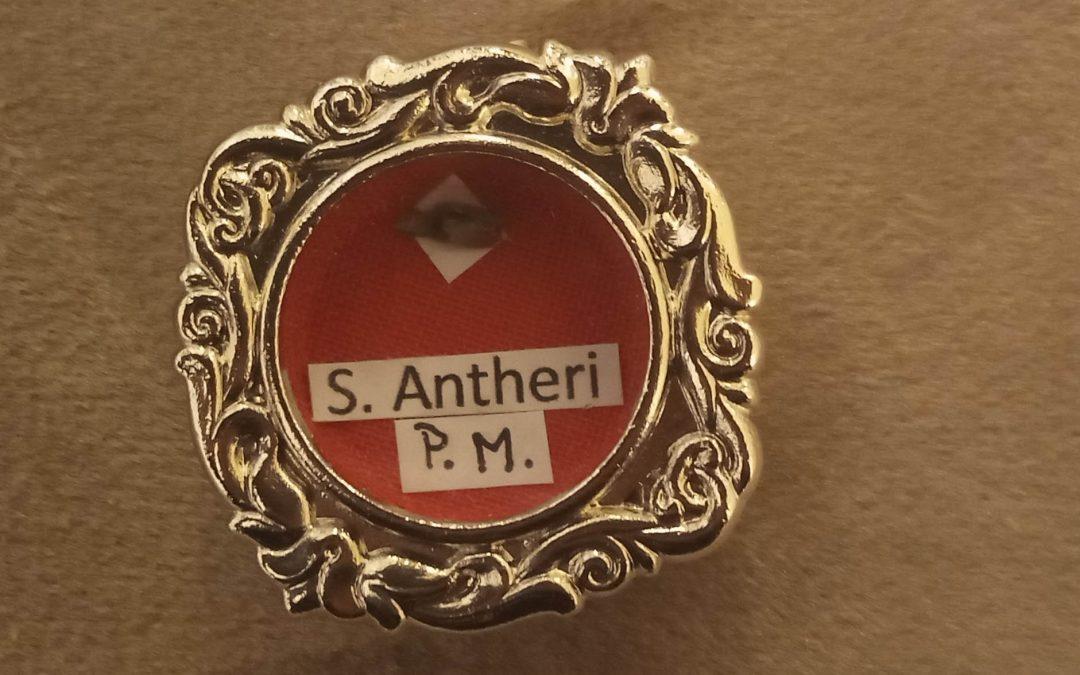 Relikwie świętego Anterosa, patrona naszego seminarium